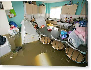 Flooding In Toll Bar Canvas Print by Ashley Cooper