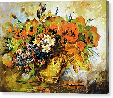 Floral 10 Canvas Print by Mahnoor Shah