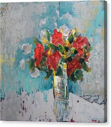 Floral 13 Canvas Print by Mahnoor Shah