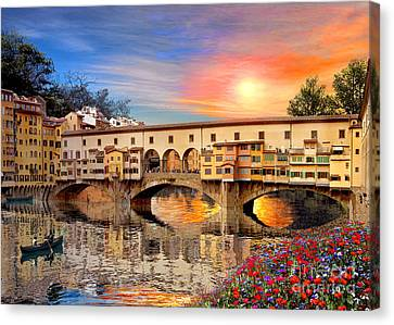 Florence Bridge Canvas Print by Dominic Davison