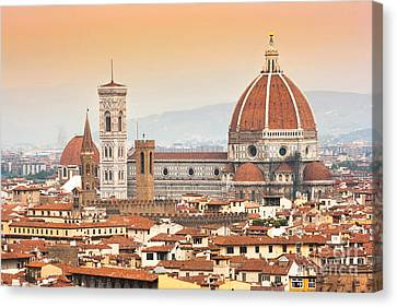 Florence Cathedral At Sunset Canvas Print by JR Photography