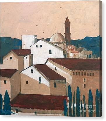Florence Rooftops Canvas Print by Micheal Jones