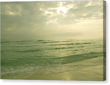 Canvas Print featuring the photograph Florida Beach by Charles Beeler