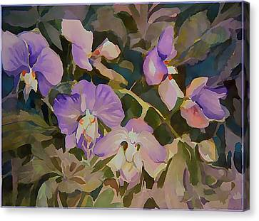Florida Orchids Canvas Print by Mindy Newman