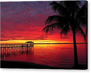 Canvas Print featuring the photograph Florida Sunset IIi by Elaine Franklin