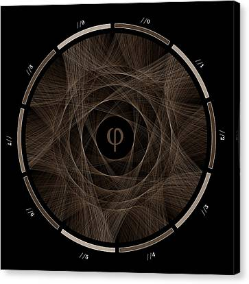 Flow Of Golden Ratio #2 Canvas Print by Cristian Vasile