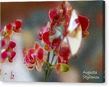 Flower Cubism Canvas Print by Augusta Stylianou