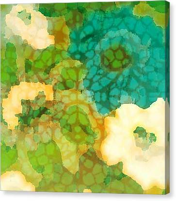 Flower Garden Canvas Print by Lisa Noneman