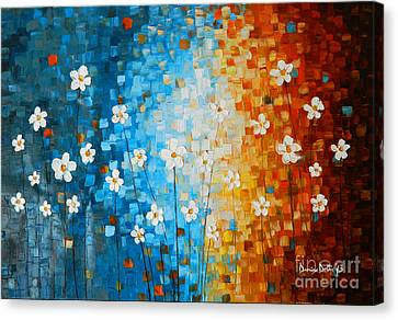 Flowers After Rain Canvas Print by Denisa Laura Doltu