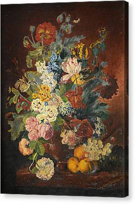 Canvas Print featuring the painting Flowers Of Light by Mary Ellen Anderson