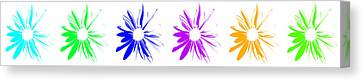 Canvas Print featuring the digital art Flowers On White by Maggy Marsh