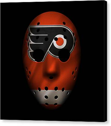 Flyers Jersey Mask Canvas Print by Joe Hamilton