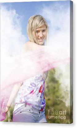 Foggy Field Frolic Canvas Print by Jorgo Photography - Wall Art Gallery