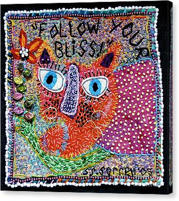 Follow Your Bliss Canvas Print by Susan Sorrell