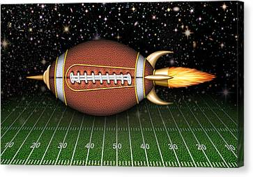 Football Spaceship Canvas Print by James Larkin