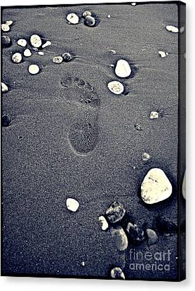 Footprint Canvas Print by Nina Ficur Feenan