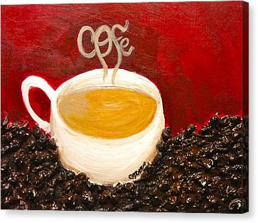 For The Coffee Lover Canvas Print by Melissa Torres