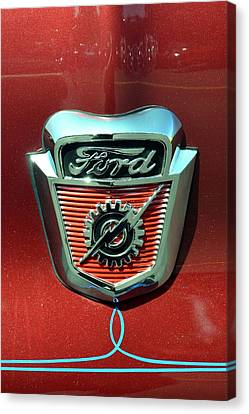 Ford Emblem Canvas Print by Classic Visions