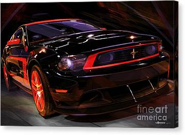 Pony Canvas Print - Ford Laguna Seca Boss 302 Mustang by Uli Gonzalez