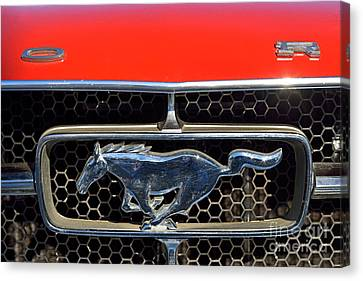 Ford Mustang Badge Canvas Print by George Atsametakis