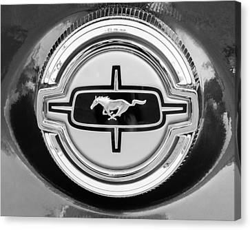 Ford Mustang Gas Cap Canvas Print by Jill Reger