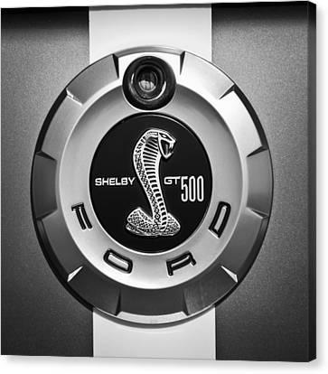 Ford Shelby Gt 500 Cobra Emblem Canvas Print by Jill Reger