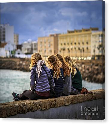 Foreign Students Cadiz Spain Canvas Print