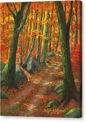 Old Country Roads Canvas Print - Forest Light by Frank Wilson