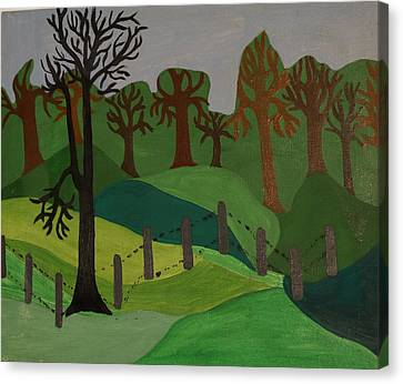 Forest Moderna Canvas Print