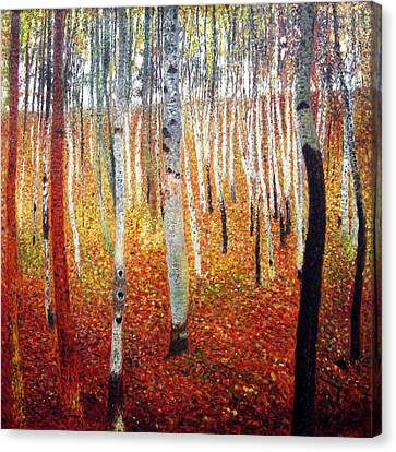 Forest Of Beech Trees Canvas Print by Gustav Klimt
