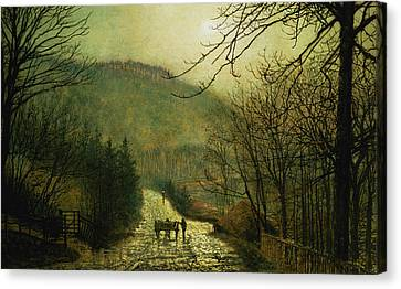 Forge Valley Canvas Print by John Atkinson Grimshaw