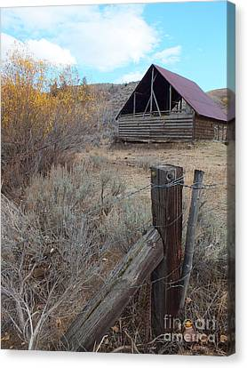 Forgotten Barn Canvas Print by Kimberly Maiden