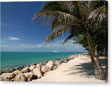Fort Zachary Taylor Beach Canvas Print by Amy Cicconi