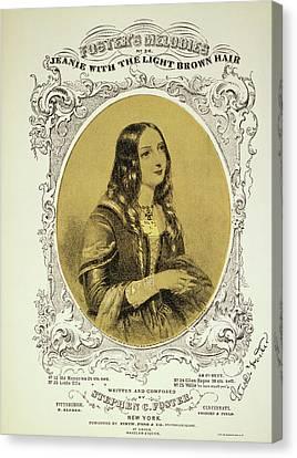 Foster Song Sheet, 1854 Canvas Print by Granger