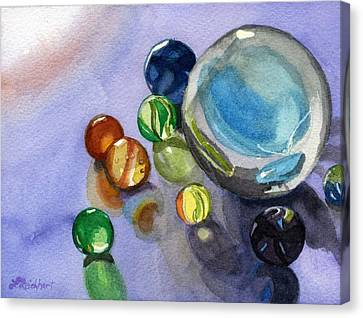 Canvas Print featuring the painting Found My Marbles by Lynne Reichhart