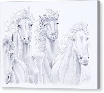 Four For Freedom Canvas Print by Joette Snyder