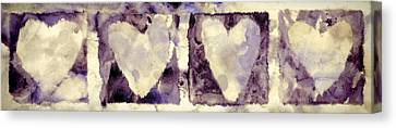 Four Hearts Canvas Print