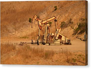 Fracking Canvas Print