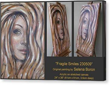 Fragile Smiles 230509 Canvas Print by Selena Boron