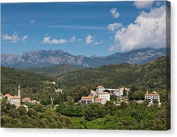 France, Corsica, La Alta Rocca, Levie Canvas Print