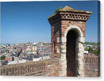 Chateau Canvas Print - France, Normandy, Dieppe, City View by Walter Bibikow