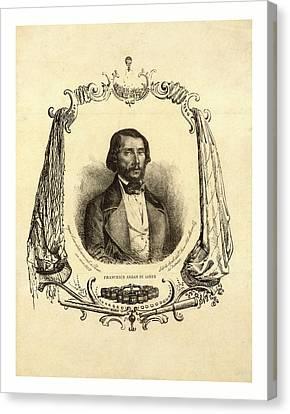 Francesco Arban Di Lione, Head-and-shoulders Portrait Canvas Print