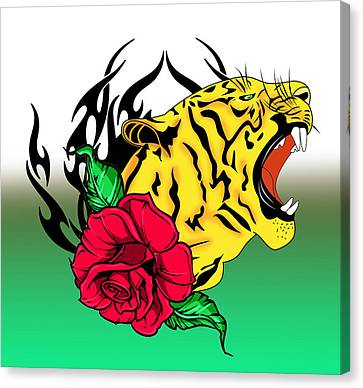 Caricature Canvas Print - Freak Tiger  by Mark Ashkenazi