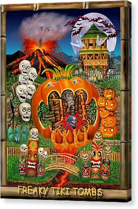 Freaky Tiki Tombs Canvas Print by Glenn Holbrook