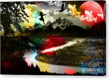 Colorful Canvas Print - Free As A Bird by Marvin Blaine