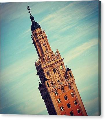 Freedom Tower - Miami Canvas Print by Joel Lopez