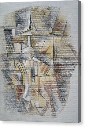 Canvas Print featuring the digital art French Curves 4 by Clyde Semler