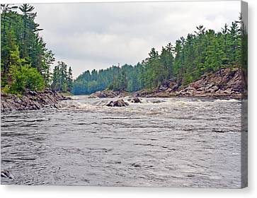 Canvas Print featuring the photograph French River Ontario Canada by Marek Poplawski
