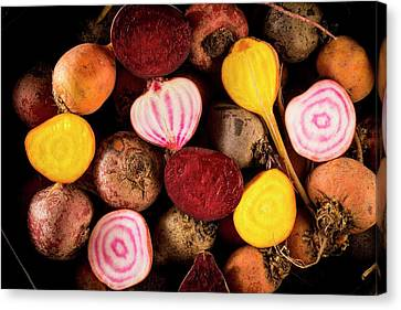 Fresh Beetroot And Red Onions Canvas Print by Aberration Films Ltd