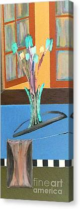 Canvas Print featuring the painting Fresh Flowers by Bill OConnor